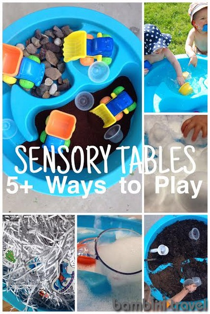 Quiet time activities, sensory play table